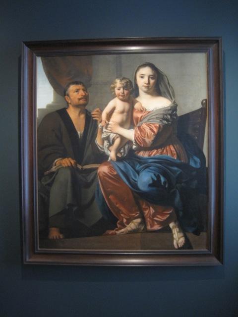 Taulu, jossa on maalattuna Jeesus, Maria ja Joosef.