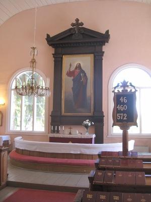 Elias Lönnrotin tilaama alttaritaulu Sammatin kirkossa. Virsitauluun on aseteltu kolmen Elias Lönnrotin virren numerot. 46 on loppiaisvirsi ja kuvaa suurmiehen hengellistä ajattelua. 460 on sepitetty Sammatin kansakoulun vihkiäisjuhlaan, 572 on kirjoitettu 1860-luvun nälkävuosien jälkeen.
